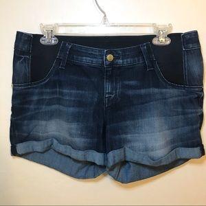 Liz Lange Maternity Shorts Denim Medium 8/10